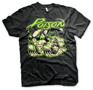 Officially Licensed Poison - Poison Men's T-Shirt S-XXL Sizes (Black)