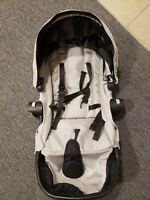 Baby Jogger City Select Second Seat Beige Seat Only. Black Frame