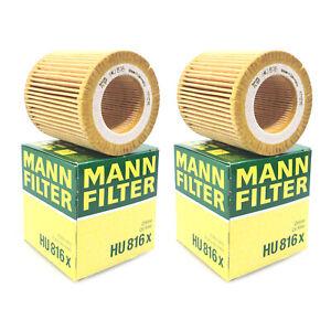 Pair Set of 2 Oil Filters Mann 11 42 7 541 827 For BMW E60 E71 E90 E92 F01 F10