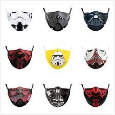 Adult Mouth Protective PM2.5 Filters Adjustable Darth Vader Washable Face Masks