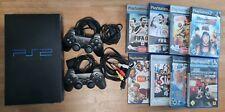 Sony PlayStation 2 (Schwarz) + 2 Controller + 8 Spiele (PAL - SCPH-50004)