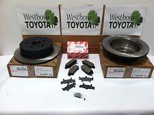 Toyota Sienna 2003-2010 OEM Rear Brake Rotors & Genuine Toyota Pads & Shim Kit