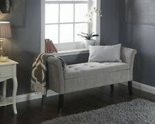 Balmoral Silver Chenelle Window Bench Ottoman Storage LOCAL DELIVERY
