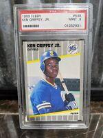 1989 Fleer Ken Griffey Jr #548 PSA 9 Rookie HOF Mint RC Clean Case