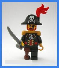 LEGO Minifigures pi081 Captain Brickbeard Capitano Pirati Omino Minifigura 6243