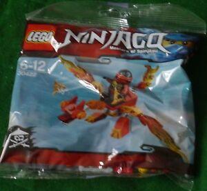 NINJAGO LEGO: MASTERS OF SPINJITZU: KAI'S DRAGON COMPLETE SEALED KIT [Nn2]
