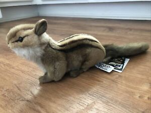 Hansa Plush Chipmunk Stuffed Animal Portraits of Nature Original tags