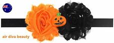Kids Girl Baby Halloween Pumpkin Costume PROP lace Party Hair Headband band