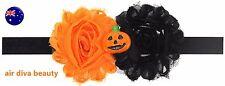 Kids Girl Baby Halloween Pumpkin Costume PROP lace Party Hair Headband band