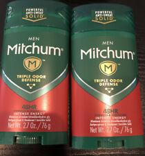 2 Pack MITCHUM INTENSE ENERGY INVISIBLE SOLID ANTIPERSPIRANT DEODORANT 2.7 OZ