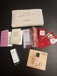 Chanel Coco Mademoiselle Kosmetiktasche mit Produkten