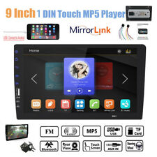 """9""""1DIN Touch Screen Car Radio+Camera Bluetooth Stereo Mirror Link  MP5 Player FM"""