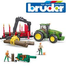 Bruder John Deere 7930 remolque de tractor árbol forestal & Figura Set + Accesorios