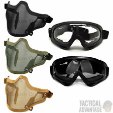 Airsoft Wire Mesh Mask and X400 Goggles Full Face Protection Glasses Strike UK
