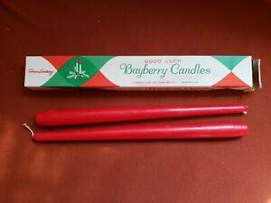 Vintage Bayberry Candles Red