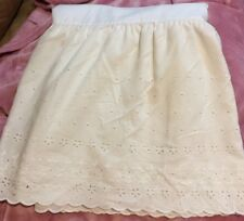❤️JCPENNEY Western King White Eyelet Embroidered Bed Skirt Dust Ruffle EUC