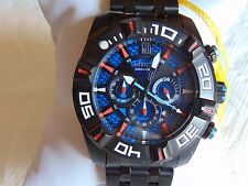 Invicta Jason Taylor 51mm Multi-function Black Ion-Plated Stainless Steel Watch