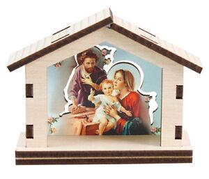 XMAS NATIVITY SET Miniature Figures Holy Family Shed XMAS Gift Xmas Decoration