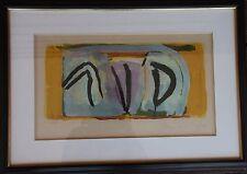 Bram VAN VELDE - Lithographie lithograph signée numérotée encadrée 1973 *