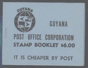 Guyana 1981 $6 Black on Blue booklet SG# SB10 NH