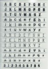 Alphabet Clear Stamps for Scrapbooking DIY Silicone Seals Card Children Toys