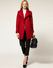 French Connection Wool Mix Military Coat - Red Style Size 10 BNWT