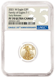 2021 W 1/10 oz Proof Gold Eagle NGC PF70 - PRESALE