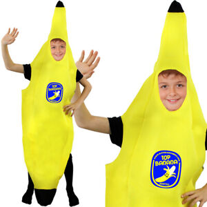 CHILD BANANA COSTUME KIDS HEALTHY EATING FRUIT FANCY DRESS UNISEX FOOD OUTFIT