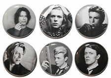 "1"" (25mm)  David Bowie Button Badge Pins - 60's, 70's & 80's Music"