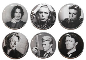 """1"""" (25mm)  David Bowie Button Badge Pins - 60's, 70's & 80's Music"""