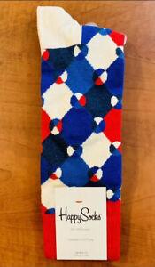Happy Socks Mens Socks Red/White/Blue Geometric