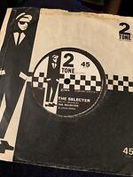THE SELECTER The Selecter 2TONE 45, SKA REGGAE ORIG RECORD RARE VINYL