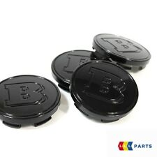 NEW GENUINE SMART FORTWO FORFOUR BRABUS BLACK WHEEL CENTER HUB CAP SET 4PCS