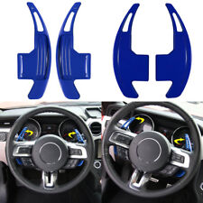 Blue Interior Steering Shift Paddle Shifter Extension For 2015-2018 Ford Mustang