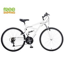 "White Mountain Bike Men 26"" Full Suspension 18 speed Bicycle New!"