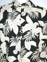 Mens Med Black Vintage Tori Richard Hawaiian Shirt