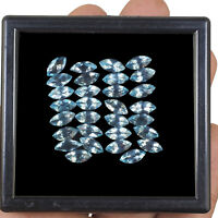 VVS 30 Pcs Natural Loose Blue Topaz 8mm/4mm AAA Quality Marquise Cut Gemstones