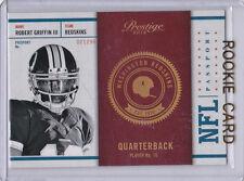 RG3 Robert Griffin III ROOKIE CARD Prestige Passport NFL RC Washinton Redskins