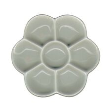 Ceramic 7 Well Daisy Palette Artist Paint Mixing Dish