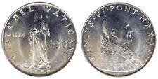 50 LIRE 1964 ANNO II PAOLO VI CITTA' DEL VATICANO VATICAN CITY Q.Fdc A.Unc §814