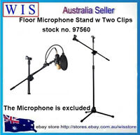 Universal Microphone Tripod Floor Stand Adjustable Microphone Double Clips-97560
