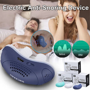 Electric Anti Snore Stopper Device Sleeping Help Smooth Breathing Nasal Machine