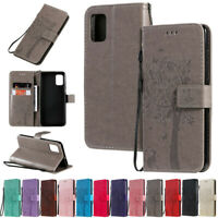 Cat Tree Wallet Leather Flip Cover Case For Samsung A51 A71 A21S A11 A31 A41 A50