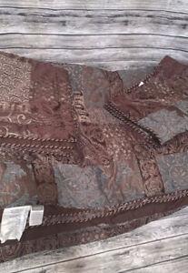 Croscill Galleria Queen Comforter 2 Standard Shams Brown Red Gold Teal