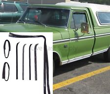 Door Beltline Glass Channel Weatherstrip Window Seal Kit for 1973-79 Ford Truck