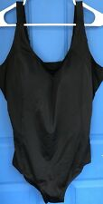 NEW SWIMSUITS FOR ALL WOMENS BLACK 1 PIECE SWIMSUIT SIZE 12 NWT