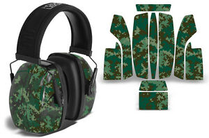 Sticker Wrap Decal  Fits: Howard Leight Impact Noise Ear Shooting Muffs DIGICAMO