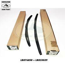 LAND ROVER WIPER BLADE KIT SET RH LH RANGE RR SPORT LR033029 LR076850 OEM