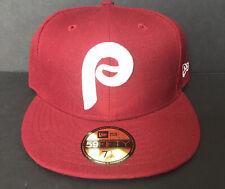 New Philadelphia Phillies New Era 59Fifty Red Hat Retro Logo; Fitted Sz 7 1/2