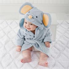 Cute Animal Cartoon Baby Kids Hooded Bathrobe Toddler Boy Girls Bath Towel Cloth